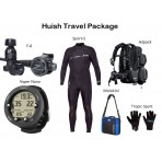 Huish Travel Package: Jetpack BCD, F8 Regulator, Vyper Novo Wrist Computer, 3/2 Sport-S Wetsuit, Regulator Bag, Gloves
