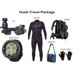 Huish Travel Package: Jetpack BCD, F8 Regulator, Vyper Novo Wrist Computer, 3/2 Sport-S Wetsuit, Regulator Bag, Gloves