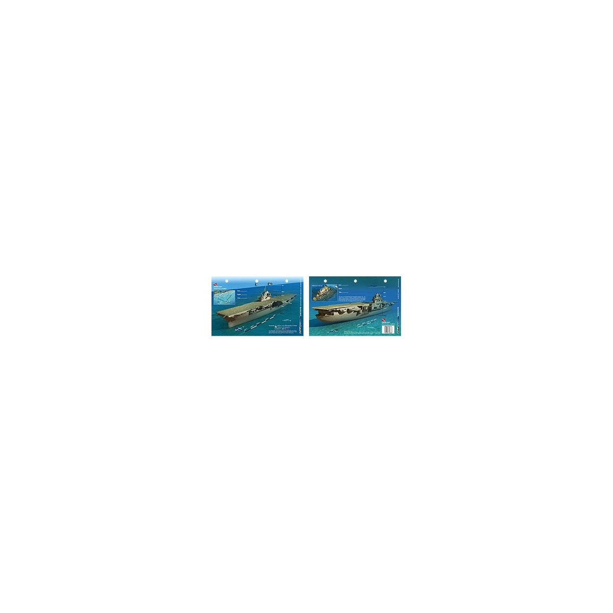 Oriskany in Pensacola, Florida (8.5 x 5.5 Inches) (21.6 x 15cm) - New Art to Media Underwater Waterproof 3D Dive Site Map