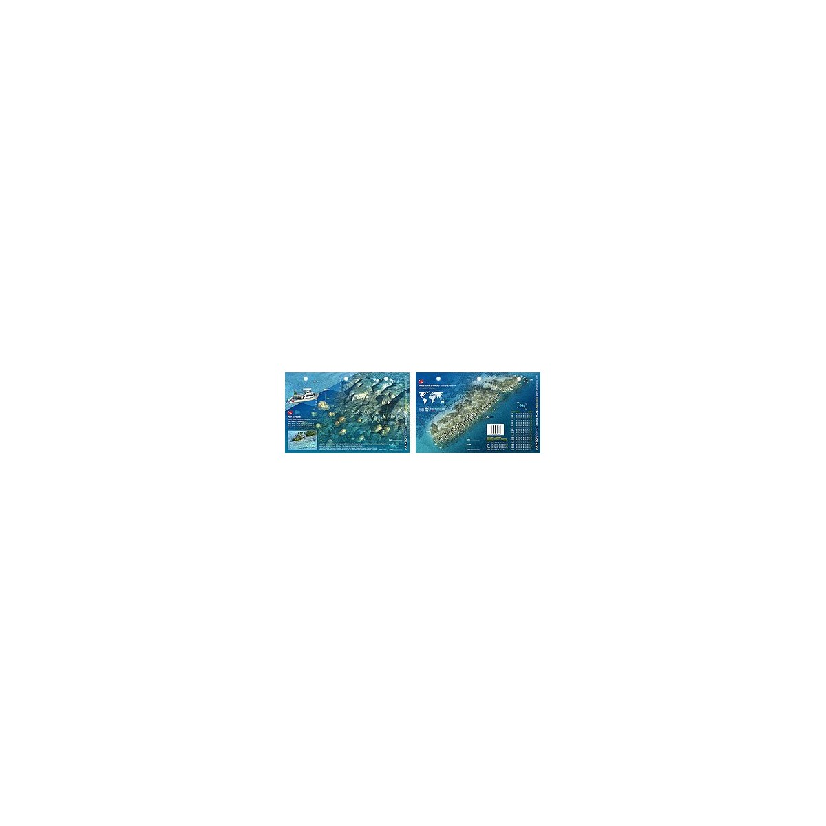 Wester Samboo in Key West, Florida (8.5 x 5.5 Inches) (21.6 x 15cm) - New Art to Media Underwater Waterproof 3D Dive Site Map
