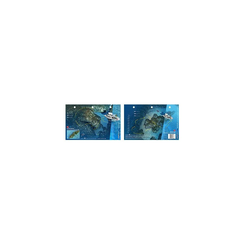Marilyn`s Cut/Meadowsin Little Cayman, Cayman Islands (8.5 x 5.5 Inches) - New Art to Media Underwater Waterproof 3D Dive Site M