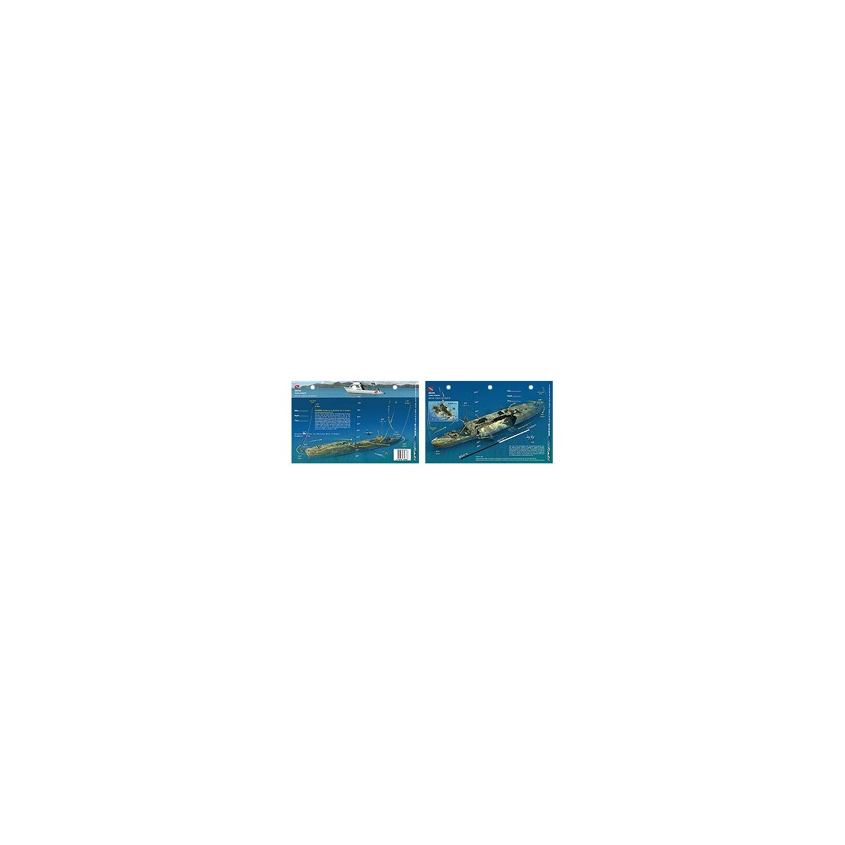 Mahi in Oahu, Hawaii (8.5 x 5.5 Inches) (21.6 x 15cm) - New Art to Media Underwater Waterproof 3D Dive Site Map