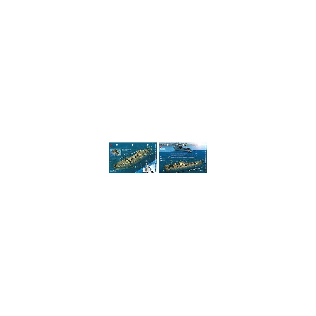 Sea Tiger in Oahu, Hawaii (8.5 x 5.5 Inches) (21.6 x 15cm) - New Art to Media Underwater Waterproof 3D Dive Site Map