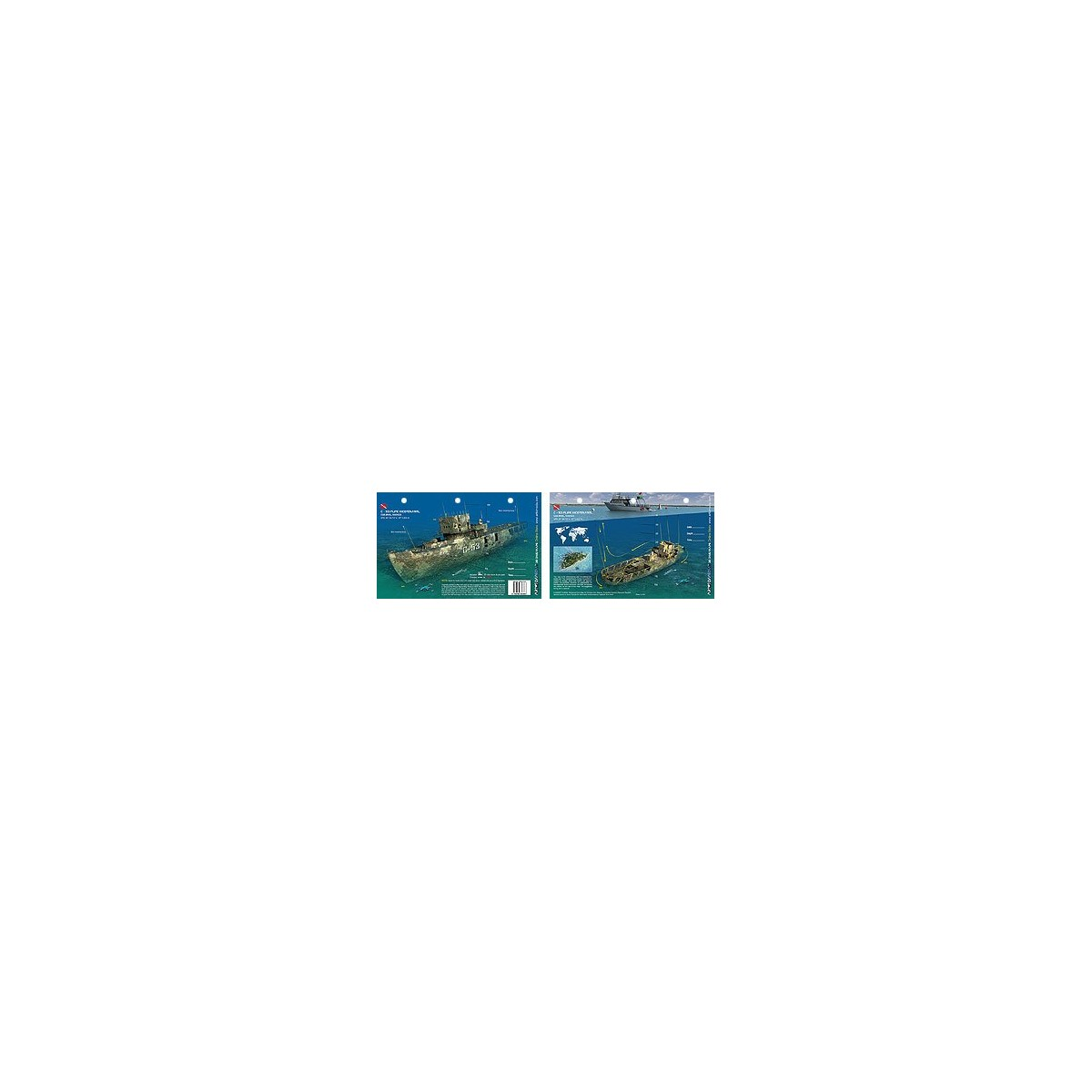 C-53 Felipe Xicotencatl in Cozumel (8.5 x 5.5 Inches) (21.6 x 15cm) - New Art to Media Underwater Waterproof 3D Dive Site Map