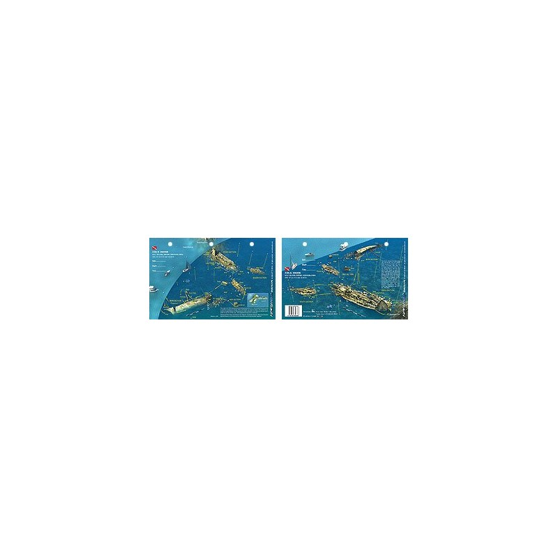 Rhone in British Virgin Islands (8.5 x 5.5 Inches) (21.6 x 15cm) - New Art to Media Underwater Waterproof 3D Dive Site Map