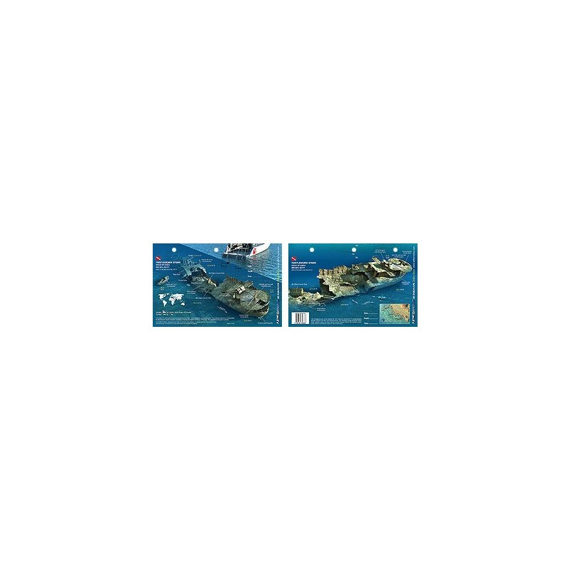 Thistlegorm Stern in the Red Sea, Egypt (8.5 x 5.5 Inches) (21.6 x 15cm) - New Art to Media Underwater Waterproof 3D Dive Site M