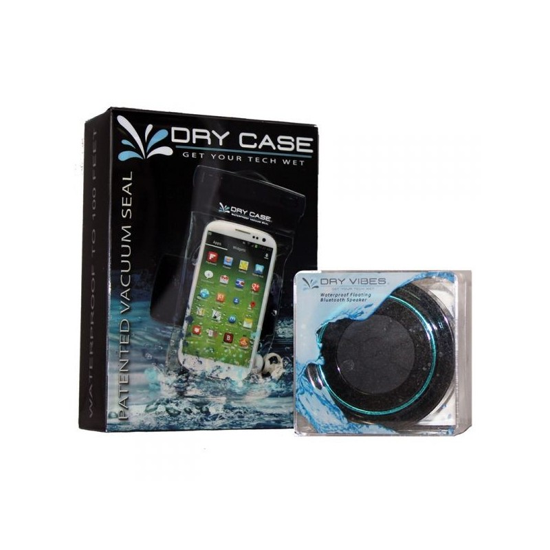 DryCASE DryVIBES (DV-03) Waterproof Floating Bluetooth Speaker & DryCASE (DC-13) Universal Waterproof Smartphone Case Combo