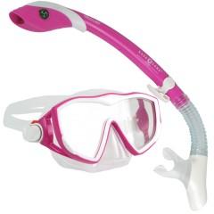 Aqua Lung Diva1 LX & Island Dry LX Combo Dive Mask & Snorkel