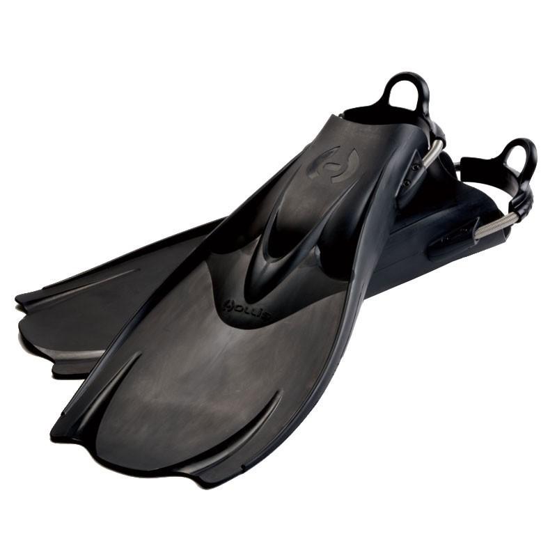 """Hollis F1 """"BAT FIN"""" Vented Blade Open Heel Diving Fin"""