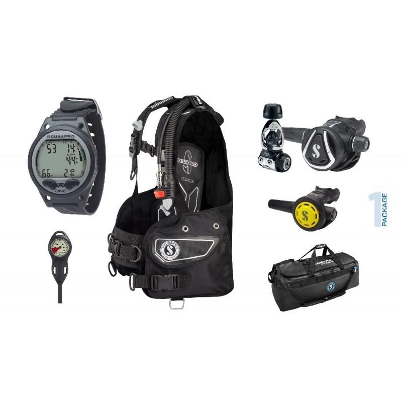 Scubapro Summer Package 1 - Equalizer BCD, MK11/C350 Regulator, R095 Octo, Aladin ONE Wrist Computer