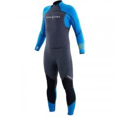 Aqua Lung 3mm Men's AquaFlex Black Back-Zip Jumpsuit